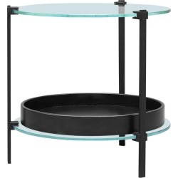 Peter Ghyczy Side Table Pioneer Amy 't79db' Charcoal / Oak / Glass found on Bargain Bro from 1stDibs for USD $1,864.83