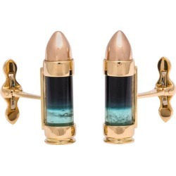 Michael Kanners Green And Black Tourmaline Gold Bullet Cufflinks found on Bargain Bro Philippines from 1stDibs for $8750.00