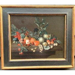 18th Century Dutch School, monogrammed C.C, Dutch old master still life of fruit, with plums, Cherries, Raspberries etc, 1790 found on Bargain Bro Philippines from 1stDibs for $4950.00