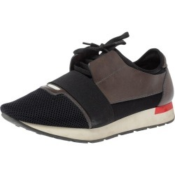 Balenciaga Black/grey Leather And Mesh Race Runners Low Top Sneakers Size 44 found on Bargain Bro Philippines from 1stDibs for $510.00