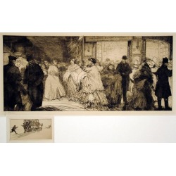 Jean-Emile Laboureur, Sortie de Theatre a Londres, 1911 found on Bargain Bro India from 1stDibs for $1300.00