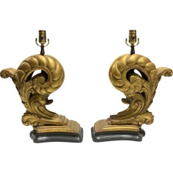 Pair Of 20th Century Giltwood Architectural Elements As Lamps found on Bargain Bro India from 1stDibs for $1250.00