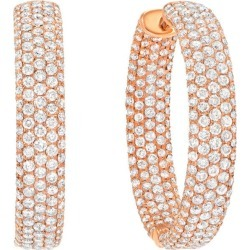 Diamond Hoop Earrings 3.47 Carats found on Bargain Bro India from 1stDibs for $6990.00