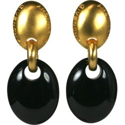 Givenchy Gilt And Black Modernist Earclips found on Bargain Bro from 1stDibs for USD $216.60