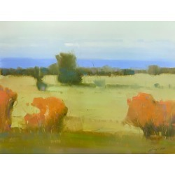 Vahe Yeremyan, Meadow, Oil Painting, 2019 found on Bargain Bro India from 1stDibs for $1500.00