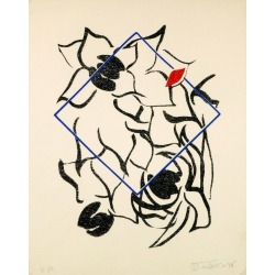 Joseph Brisot, Abstract, 1988 found on Bargain Bro India from 1stDibs for $375.00