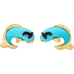 Michael Kanners Turquoise Onyx Gold Fish Cufflinks found on Bargain Bro Philippines from 1stDibs for $6800.00