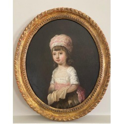 Sir William Beechey, 18th century Portrait of a Young Girl wearing a Pink Bonnet, c.1780 found on Bargain Bro Philippines from 1stDibs for $5803.44