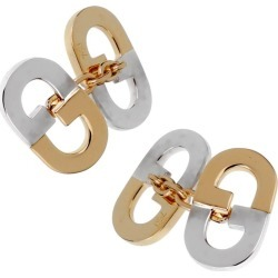 Gucci Vintage Gg Two-tone Cufflinks found on MODAPINS from 1stDibs for USD $1760.00