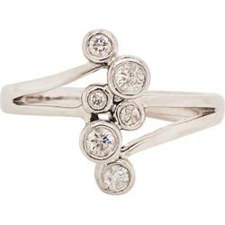 Diamond Bezel Fashion Ring 14 Karat Gold 1/4 Carat '.25 Ct' Diamond Bubble Ring found on Bargain Bro India from 1stDibs for $1119.00