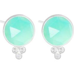 Chloe Chrysoprase Silver Stud Earrings
