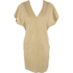 Ralph Lauren Beige Suede V Neck Shift Dress found on Bargain Bro India from 1stDibs for $210.00