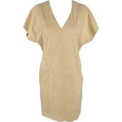 Ralph Lauren Beige Suede V Neck Shift Dress found on Bargain Bro from 1stDibs for USD $159.60