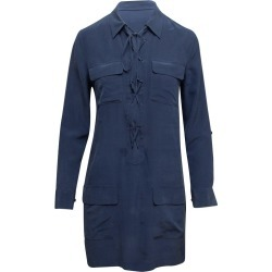 Equipment Navy Silk Long Sleeve Dress found on MODAPINS from 1stDibs for USD $95.00