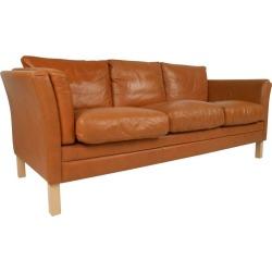 Scandinavian Modern Leather Sofa