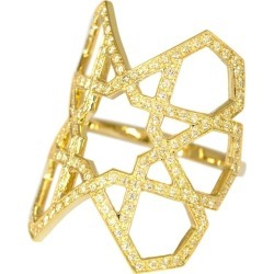 Ralph Masri Arabesque Deco Yellow Sapphire Gold Ring found on Bargain Bro Philippines from 1stDibs for $2130.00