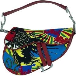 Dior Saddle Bag Sound Of Soul Model In Multicolor Canvas