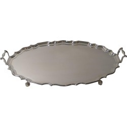 Grand Antique English Serving / Drinks Tray By Mappin & Webb, Circa 1899