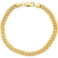 Miami Cuban Chain Bracelet 14 Karat Yellow Gold Men's And Women's Chain Bracelet found on MODAPINS from 1stDibs for USD $1799.00