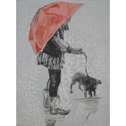 Amy Bernays, Rain Puppy, Painting, Acrylic on Canvas, 2019 found on Bargain Bro Philippines from 1stDibs for $540.00