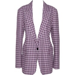 Burberry Burgundy Plaid Check Cotton Blazer L found on Bargain Bro India from 1stDibs for $910.00