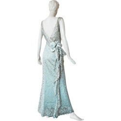 John Galliano Gloriously Gatsby Delightfully Dior Chantilly Lace Evening Dress found on MODAPINS from 1stDibs for USD $3360.00