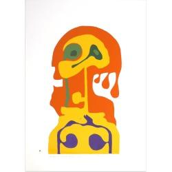Axel Knipschild, Shape of Woman - Original Screen Print by A. Knipschild - 1969, 1969