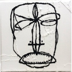 Jack Walls, Little Cicero (Contemporary Black & White Portrait on Hand Stitched Canvas), 2016 found on Bargain Bro India from 1stDibs for $2500.00