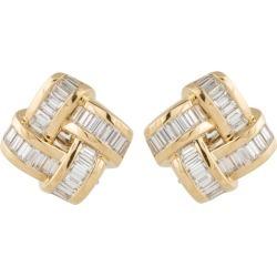 Charles Krypell Yellow Gold Diamond Earrings