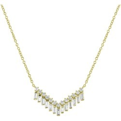 Diamond Pendant Necklace In 18 Karat Yellow Gold found on Bargain Bro Philippines from 1stDibs for $1382.50