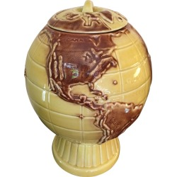 Ceramic Globe Cookie Jar found on Bargain Bro India from 1stDibs for $250.00