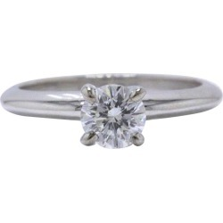Leo Round Brilliant Diamond Engagement Ring 0.51 Cts I Si1 14k White Gold Papers found on Bargain Bro Philippines from 1stDibs for $1595.00