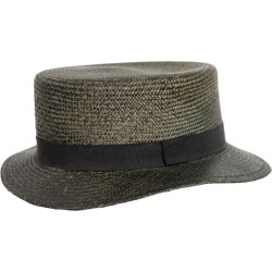 Kenzo Dark Gray Stiff Straw Hat Fedora found on MODAPINS from 1stDibs for USD $139.08