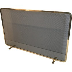 Large Brass And Steel Grilling Fire Place Screen, French, Circa 1970