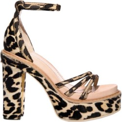 New Givenchy Pony Hair Leopard Print 2x Platform Shoes Sandals It 38.5 - Us 8 found on Bargain Bro from 1stDibs for USD $452.20