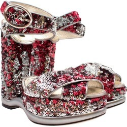 Dolce & Gabbana Sequin Wedged Sandals Us 8 found on Bargain Bro India from 1stDibs for $466.82