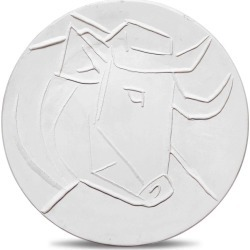 Pablo Picasso, Pablo Picasso Madoura Ceramic Plate - T�te de taureau Rami� 329, 1956 found on Bargain Bro India from 1stDibs for $16500.00