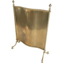 Maison Bagu�s, Rare Bronze And Brass Faux Bamboo Fire Place Screen, French