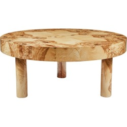 Carlton Burl Wood Coffee / Cocktail Table In By August Abode In Natural Finish found on Bargain Bro Philippines from 1stDibs for $6100.00