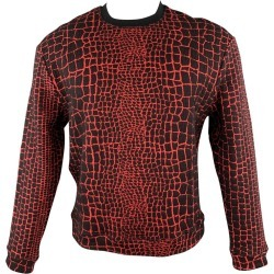 Kenzo Size M Red & Black Alligator Cotton Blend Sweatshirt found on MODAPINS from 1stDibs for USD $247.00