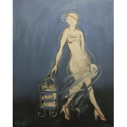 Marilyn Kalish, Parisian Delights #2, Painting, Oil on Canvas, 2013 found on Bargain Bro Philippines from 1stDibs for $730.00