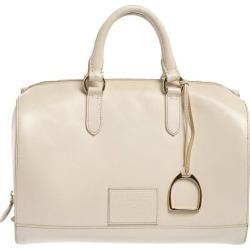 Ralph Lauren Cream White Leather Stirrup Boston Bag found on Bargain Bro Philippines from 1stDibs for $477.00