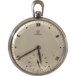 Omega Art Deco Vintage Steel Cased Pocket Watch found on MODAPINS from 1stDibs for USD $795.00
