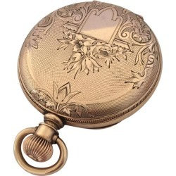 Antique 14 Karat Gold American Watch Co. Waltham Full Hunter Pocket Watch found on MODAPINS from 1stDibs for USD $1314.29