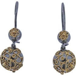 Castellani Gold Silver Granulated Filigree Ball Drop Earrings found on Bargain Bro Philippines from 1stDibs for $2100.00