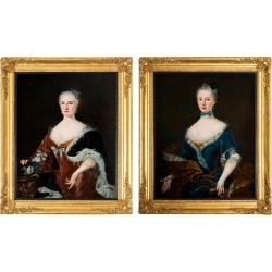 Pair Of Portraits Of Ladies, European, Early 18th Century found on Bargain Bro India from 1stDibs for $39074.63