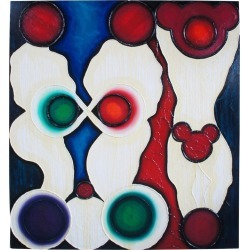 Shower By Matthew Weinstein 1992 Oil On Linen Contemporary Abstract Mickey found on Bargain Bro India from 1stDibs for $4700.00