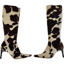 Dolce Gabbana Fitted Boots Animal Print found on MODAPINS from 1stDibs for USD $950.00