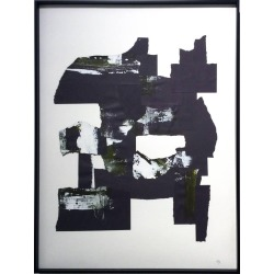 Unknown, Abstraction 1 (Black and White abstract paper collage), 2016 found on Bargain Bro India from 1stDibs for $650.00
