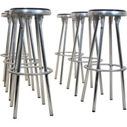 Industrial Bar Stools In Aluminum By Joan Casas I Ortinez For Indecasa, Spain found on Bargain Bro India from 1stDibs for $3098.29